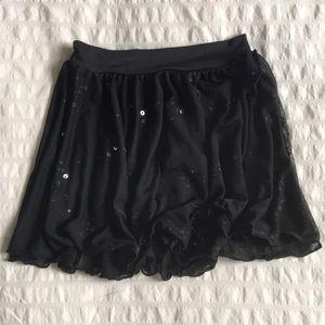 Capezio Sequin Pull On Skirt